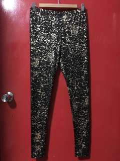 Final Sale! Brand New ASOS Gold Foil Print Leggings