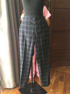 2 pairs plaid pants (banana rep & uniqlo)