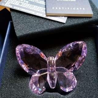 新Swarovski粉紫蝴蝶