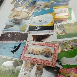 集卡欣賞50張珍藏日本八九十年代已使用電話卡鐵路卡動物地鐵圖書風景旅遊