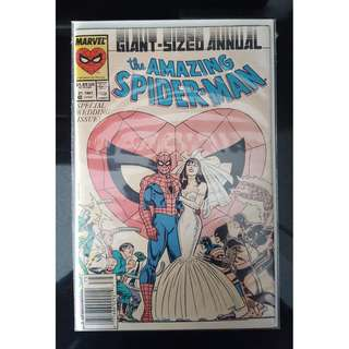 Amazing Spider-Man Annual #21 (1987, 1st Series) News-stand Edition (THE WEDDING ISSUE!)