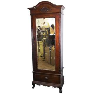 CLEARANCE SALE Teakwood antique cabinet with mirror