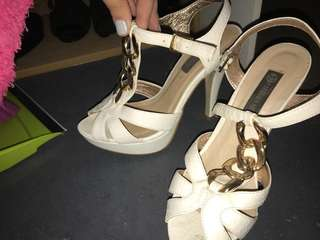 Golden strapped sandals