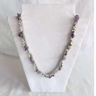Crochet Amethyst Necklace