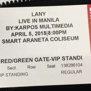 4 LANY VIP DAY 1 and 2 (physical tickets)
