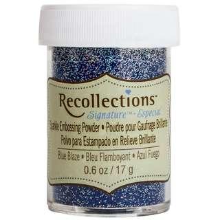 [Restock] - Recollections Sparkle Embossing Powder - Blue Blaze (Last Piece)