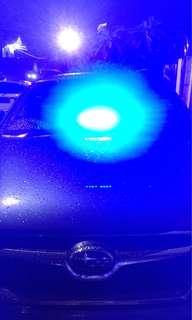 Lampu strobo atau rotator 8 mata LED
