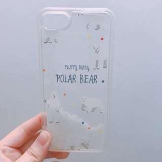 iPhone 7 北極熊 流沙手機軟殼