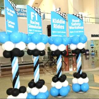 Balloon columns for special company events