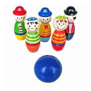 Wooden Bowling Toy Set