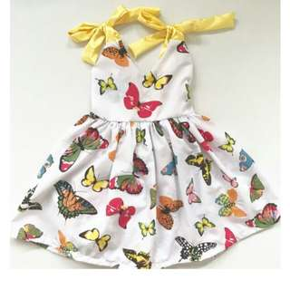 Butterfly Dress (with matching hair clip)