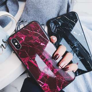 [PO] TEMPERED GLASS MARBLE IPHONE CASE (6/6S/6+/6S+/7/7+/8/8+/X)