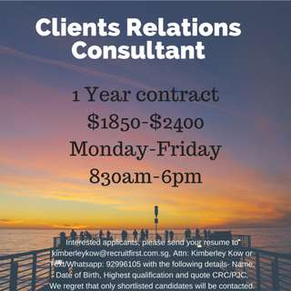 Clients Relation Consultant