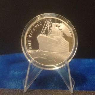 RMS Titanic Silver plated Coin Souvenir