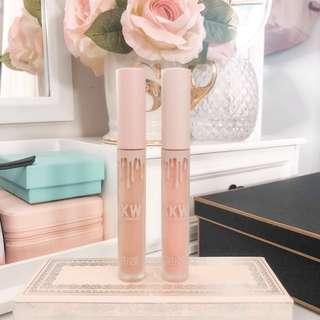 Kylie Cosmetcs x Kim Kardashian KKW lip cream bundle • Set of 2 lipsticks • Kimberly and Kim • Almost New • Sale
