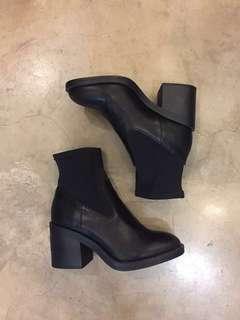 New Look Chunky Block Heel Sock Boots