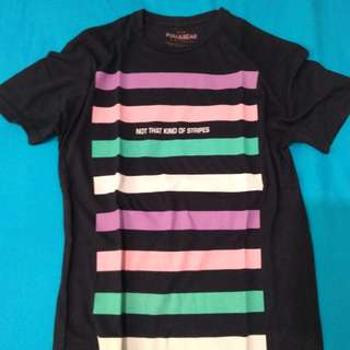 Kaos Stripes Colour Pull&Bear Original Size S