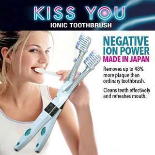 KISS YOU] Negative Ion Toothbrush [No.1 in Japan]