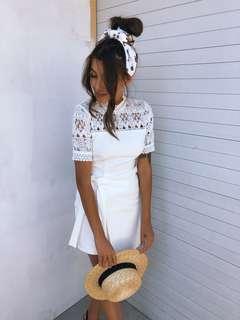 ➰ white elegant dress - lace detail - New