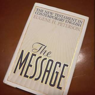 The Message Bible Harbound plus free book