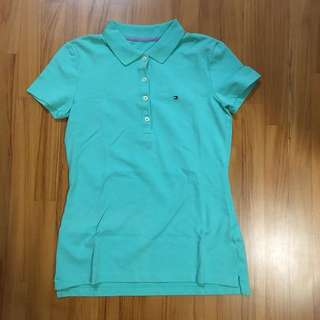 Authentic Tommy Hilfiger polo shirt (light green) XXS