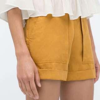 Zara Basic Mustard Comfy Short