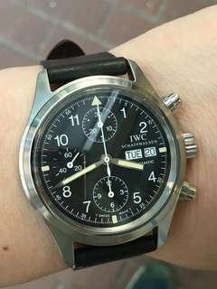 IWC Pilot Chronograph 3706 (not Rolex not Tudor not panerai)