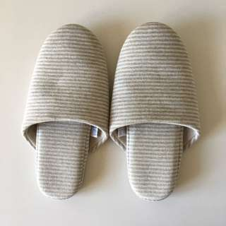 Muji cotton knitted soft slippers M
