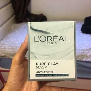 L'Oréal anti-pores clay mask