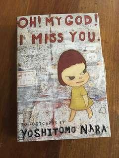 REDUCED! Oh! My God! I Miss You. 30 Postcards by Yoshitomo Nara