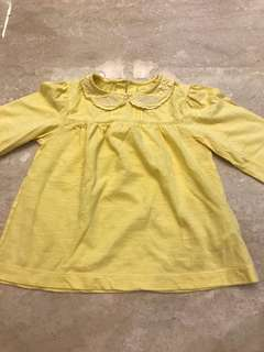 Yellow top for girl