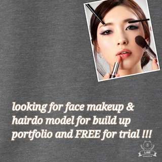 Looking for model for face makeup and hairdo for practice & lesson purpose