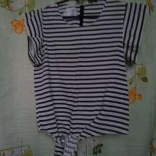 Stripe chiffon blouse