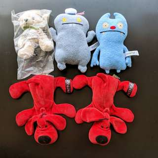 Lot Sale: 5 x Plush / Soft Toys  -  Ugly Doll Gato & Babo, Patrick, Crabtree & Evelyn