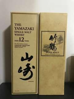 日本威士忌 山崎12 竹鶴17