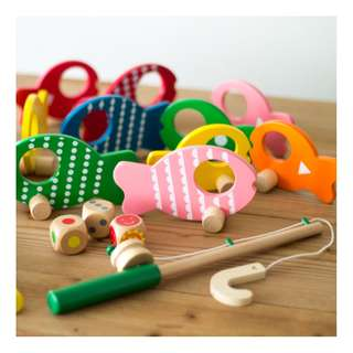 Wooden Fishing Toy Set