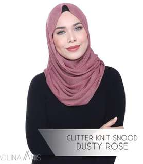 GLITTER GOLD KNIT SNOOD - ROSE PINK