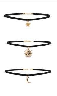 (INSTOCK) Moon, Star and Sun Necklace/Choker