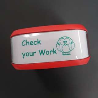 Teacher Stamp: Check your Work