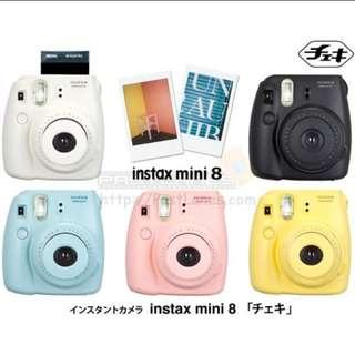 (5 Colors) 100% Authentic Fujifilm Instax Mini 8 Polaroid Camera (INSTOCKS)