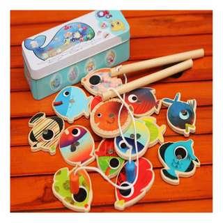 Wooden Fishing Toy Set