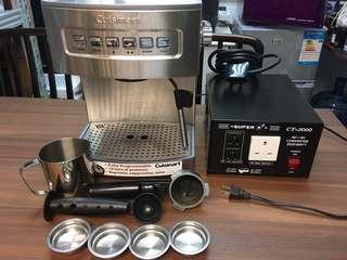 Cusineart Esspresso Machine & Power Converter