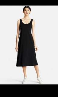 BNWT Uniqlo Sleeveless Long Bra Dress In Grey