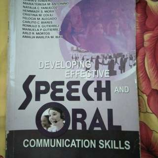 Speech and oral communication skills