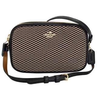 🚚 Coach格紋雙層側背包