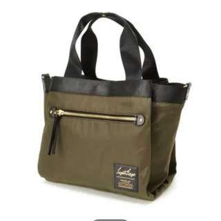 ✳ Kaki Authentic Legato Largo Nylon Middle Tote bag - ready stock