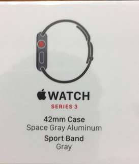 Apple Watch Series 3 GRAY 全新未開封