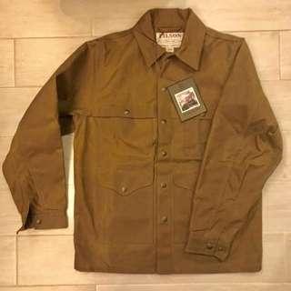 New Filson Tin Cruiser Jacket Dark Tan size S waterproof