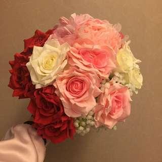 婚後物資 絲花球