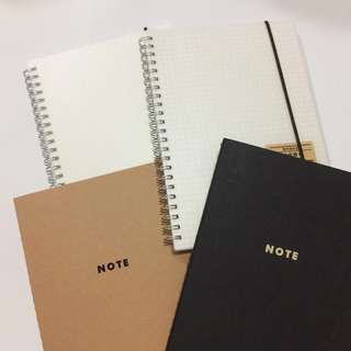 >Muji Inspired Notebooks | A5 Dotted & Grid